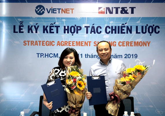 Vietnet Distribution JSC (Vietnet Distribution JSC) and Information & Communication infrastructure Solutions Co Ltd (NT&T Co., Ltd.) officially signed a Strategic Cooperation Agreement